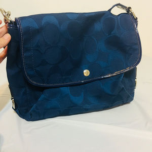 Coach Kyra Nylon Messenger Bag F16553